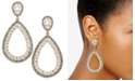 INC International Concepts I.N.C. Gold-Tone Stone & Pavé Teardrop Drop Earrings, Created for Macy's