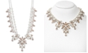 """Givenchy Silver-Tone Crystal Statement Necklace, 16"""" + 3"""" extender"""