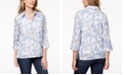 Alfred Dunner Petite Layered-Look Floral-Print Top