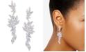 Nina Silver-Tone Layered Cubic Zirconia Drop Earrings