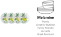 "Q Squared Limonata 4-Pc. Melamine 5.5"" Appetizer Plate Set"