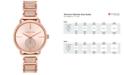 Michael Kors Women's Portia Rose Gold-Tone Stainless Steel Pavé Accent Bracelet Watch 37mm