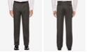 Perry Ellis Portfolio Men's Classic/Regular Fit Elastic Waist Double Pleated Cuffed Dress Pants