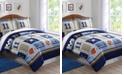 My World Denim and Khaki Sports Twin Comforter Set