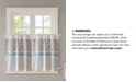"""Madison Park Dawn Cotton 60"""" x 24"""" Printed and Pieced Rod Pocket Kitchen Tiers"""