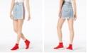 Kendall + Kylie Cotton Side-Stripe Denim Skirt
