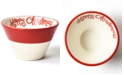 Happy Everything White Colorblock Mod Appetizer Bowl