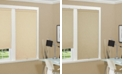 """US Shade & Shutter Cordless Linen Look Thermal Fabric Roller Shade, 34""""x66"""""""