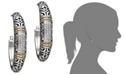 EFFY Collection Balissima by EFFY® Diamond Hoop Earrings (1/4 ct. t.w.) in 18k Gold and Sterling Silver