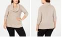 Belldini Plus Size Lurex® Cowl-Neck Sweater