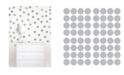 Brewster Home Fashions Metallic Silver Confetti Dots Set
