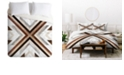 Deny Designs Iveta Abolina Geo Wood 1 Twin Duvet Set