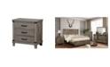 Furniture of America Milan Farmhouse Nightstand
