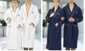 Linum Home Personalized Turkish Cotton Waffle Terry Bath Robe Collection