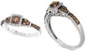 Le Vian Chocolate & Vanilla Diamond Ring (1/2 ct. t.w.) in 14k White Gold
