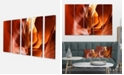 "Design Art Designart Sunshine In Antelope Canyon Photo Canvas Art Print - 60"" X 28"" - 5 Panels"