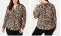 INC International Concepts INC Plus Size Animal-Print Top, Created for Macy's