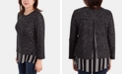 NY Collection Contrast-Hem Layered Top