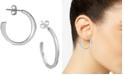 Argento Vivo Flat Hoop Earrings
