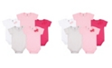 Hudson Baby Bodysuits, 5-Pack, Pink and Gray, 6-12 Months