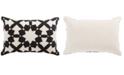 "Jaipur Living Nikki Chu By Casino Black/Ivory Geometric Poly Throw Pillow 16"" x 24"""