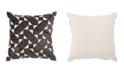 "Jaipur Living Nikki Chu By Danceteria Black/Ivory Geometric Poly Throw Pillow 22"""