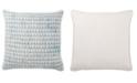 "Jaipur Living Yonah Handmade Geometric Blue/White Down Throw Pillow 22"""