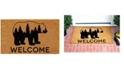 "Home & More Bear Country 24"" x 36"" Coir/Vinyl Doormat"
