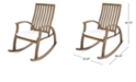 Noble House Cayo Outdoor Rocking Chair