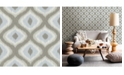 "Brewster Home Fashions Abra Ogee Wallpaper - 396"" x 20.5"" x 0.025"""