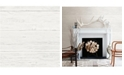 "Brewster Home Fashions White Washed Boards Wallpaper - 396"" x 20.5"" x 0.025"""