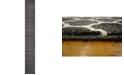 "Bridgeport Home Arbor Arb1 Black 2' 7"" x 19' 8"" Runner Area Rug"