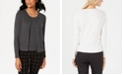 Charter Club Cardigan & Sleeveless Crewneck Sweater, Created for Macy's