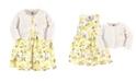 Hudson Baby Dress and Cardigan Set, Lemons, 3 Toddler