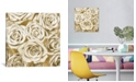 """iCanvas Ivory Roses On Gold by Kate Bennett Wrapped Canvas Print - 37"""" x 37"""""""