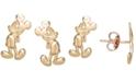 Disney Children's Mickey Mouse Stud Earrings in 14k Gold