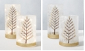 Home Essentials Holiday Tree LED Hurricanes, Set of 2