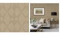 """A-Street Prints 20.5"""" x 396"""" Intrinsic Light Geometric Wood Wallpaper"""