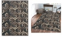 """KM Home CLOSEOUT! 3796/1012/BROWN Imperia Brown 7'10"""" x 10'6"""" Area Rug"""