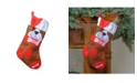 """Northlight 17"""" Red and Brown Embroidered """"DOG"""" Christmas Stocking with White Cuff"""