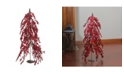 """Northlight 32"""" Downswept Festive Red Berries Artificial Decorative Christmas Tree - Unlit"""