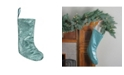 """Northlight 17.5"""" Mint Green Paillette Sequins Hanging Christmas Stocking"""