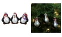 Northlight 3-Piece Set of Black and White Penguin Christmas Figure Ornaments 3.25""