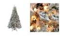 Northlight 7.5' Pre-Lit Heavily Flocked Medium Pine Artificial Christmas Tree - Clear Lights
