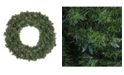 """Northlight 24""""  Pre-Lit LED Canadian Pine Artificial Christmas Wreath - Clear Lights"""