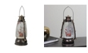 """Northlight 9"""" Country Rustic Lantern with Reindeer Table Top Christmas Decoration"""