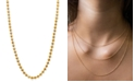 Alex Woo Beaded Ball Chain Necklaces in 14k Gold