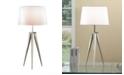 "Artiva USA Hollywood 30"" Brushed Steel Tripod Table Lamp"