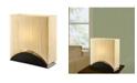 "Artiva USA Sakura 17"" Modern Space-Efficient Premium Shade Table Lamp with Lacquer"