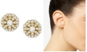 Wrapped Diamond Cluster Stud Earrings (1/4 ct. t.w.) in 14k Gold, Created for Macy's